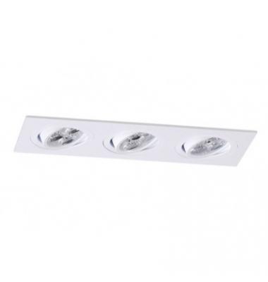 Foco empotrable 3 luces Aluminio. Spot