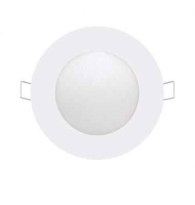 Foco Panel LED Redondo Bid Blanco 6W - 370Lm. Blanco Cálido. Ángulo 160º
