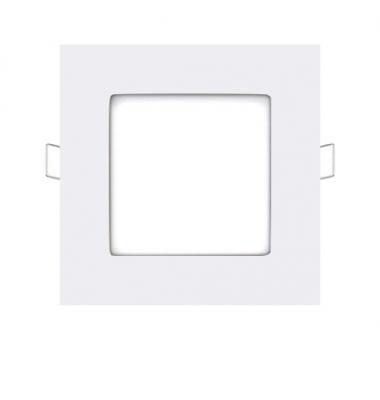 Foco Panel LED Cuadrado Square Blanco 6W - 370Lm. Blanco Cálido. Ángulo 160º