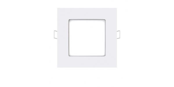 Foco Empotrable LED Square 6W - 370 Lm. Blanco Cálido. Ángulo 120º