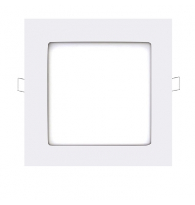Panel Downlight LED Cuadrado Square Blanco 12W - 740Lm. Blanco Cálido. Ángulo 160º