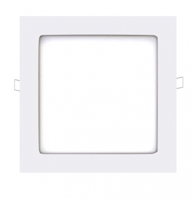 Panel Downlight LED Cuadrado Square Blanco 18W - 1110Lm. Blanco Cálido. Ángulo 160º