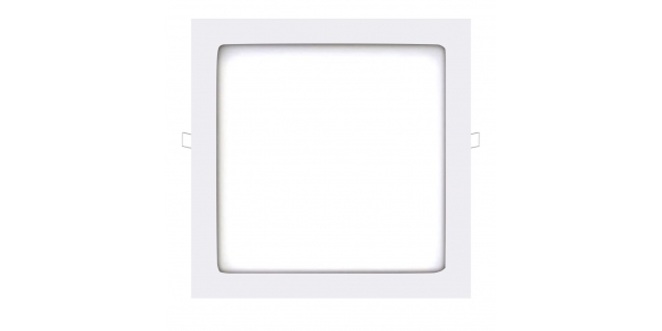 Panel Downlight LED Cuadrado Square Blanco 24W - 1480Lm. Blanco Cálido. Ángulo 160º