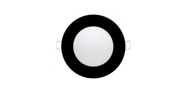 Foco Empotrar Panel LED Negro Interior 6W Bid