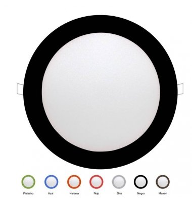 Panel Downlight LED Redondo Colores Bid 18W. Ángulo 160º