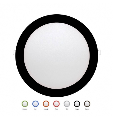 Panel Downlight LED Redondo Colores Bid 24W. Ángulo 160º