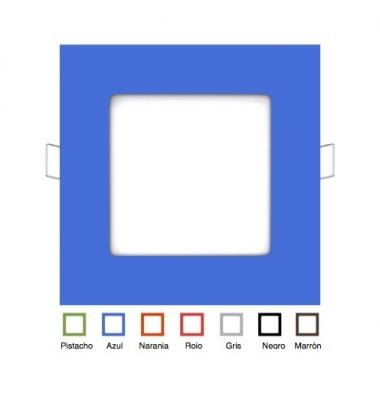 Foco Panel LED Cuadrado Colores Square 6W. Ángulo 160º
