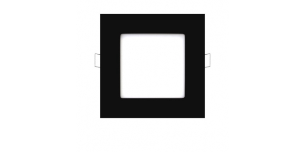 Foco Empotrar Panel LED Negro Interior 6W Square
