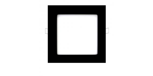 Downlight Panel LED Negro Interior 12W Square