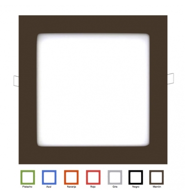 Panel Downlight LED Cuadrado Colores Square 18W. Ángulo 160º