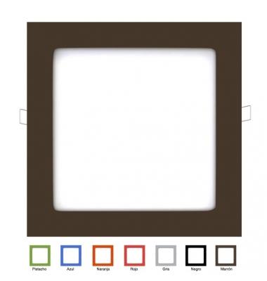 Panel Downlight LED Cuadrado Colores Square 18W. Ángulo 160º
