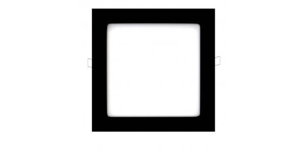 Downlight Panel LED Negro Interior 18W Square