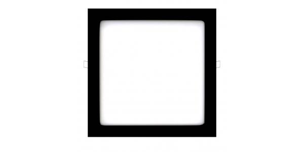 Downlight Panel LED Negro Interior 25W Square