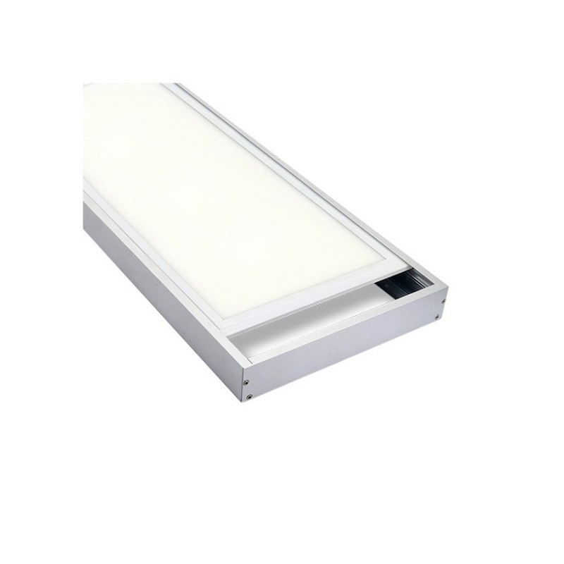 Marco Superficie Panel LED 120 x 30. Marco Blanco.