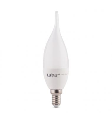 Bombilla LED E14 Vela Lujo 7W. Ángulo 180º