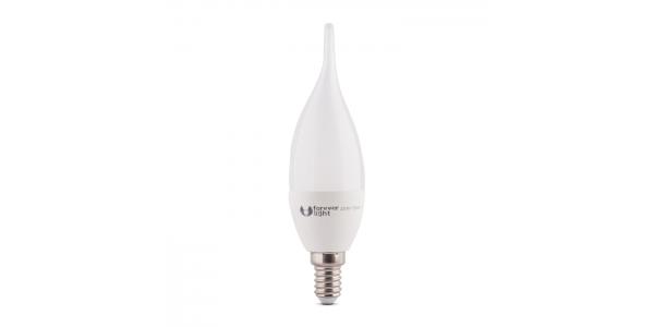 Bombilla LED C35 E14 Vela Lujo 6W. Blanco Cálido. Ángulo 180º
