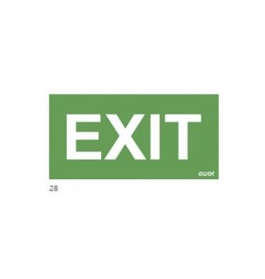 Pictograma emergencia. Exit. 100 x 300 mm