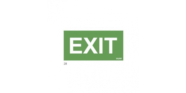 Pictograma emergencia. Exit. 100 x 300 mm