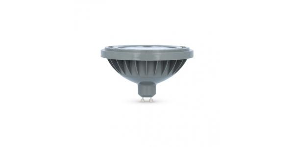 Bombilla LED AR111 15W. 220V. Blanco Natural. Ángulo 38º . 1200 Lm. Acabado Plata