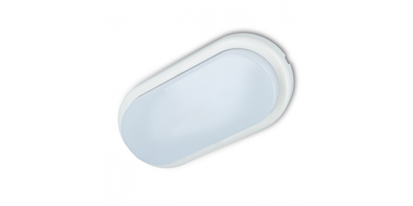 Plafon Oval LED 10W Exterior IP44. Luz Natural