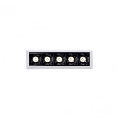 Foco Empotrar LED 10W. Mini Kardan Inline. Blanco Mate