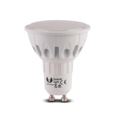 Bombilla LED GU10 6.5W. Pack 2 unidades. Luz Cálida. Ángulo 120º