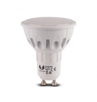 Bombilla LED GU10 6.5W. Ángulo 105º. Aluminio. Elite
