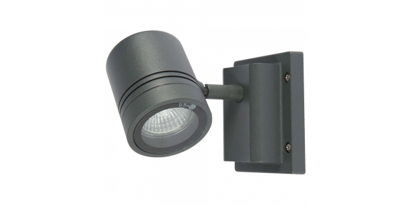 Aplique Pared Exterior Gris LED. 1 Luz. Sevas