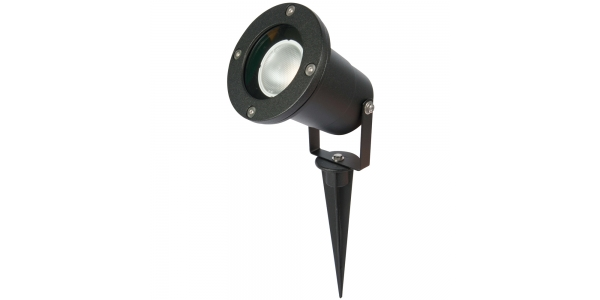 Estaca LED Exterior Negro LED. 1 Luz. Seron