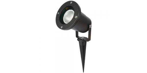 Foco Estaca LED Exterior Seron. Negro. Para bombilla LED GU10