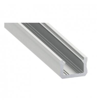 Perfil Aluminio de 2 metros, Superficie Lia, Tiras LED máximo 8mm