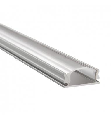 Perfil Aluminio Anodizado de 2 metros, Superficie Cloud. Tiras LED máximo 20.2mm