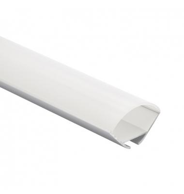 Perfil Aluminio Anodizado Lupa. Para Esquinas y Colgantes. Tiras LED 10-12mm. 1 Metro
