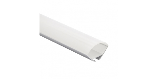 Perfil Aluminio Anodizado de 2 metros, LUPA, Esquinas, Suspendido, Tiras LED máximo 20mm