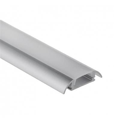 Perfil Aluminio Anodizado Bin. De Superficie. Tiras LED 10-12mm. 1 Metro