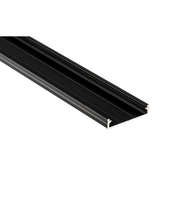 Perfil Aluminio Anodizado Sueke. Para Superficie. Hasta 3 Tiras LED. 1 Metro