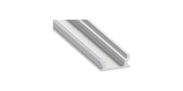 Perfil Aluminio de 2.02 metros, Empotrar, Suelos FLOOR. Tiras LED máximo 12mm
