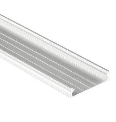 Perfil Aluminio Sueke. Para Superficie. Hasta 3 Tiras LED. 1 Metro