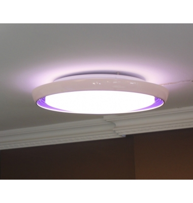 Plafón Superficie LED 20W Blanco-Rosa. Galaxy
