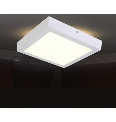 Plafón LED Interior 18W Superficie Square