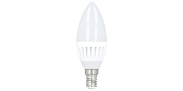 Bombilla LED E14 Vela 10W. Ángulo 180º