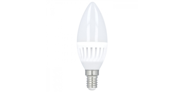 Bombilla LED Vela C35 E14 10W. Ángulo 180º