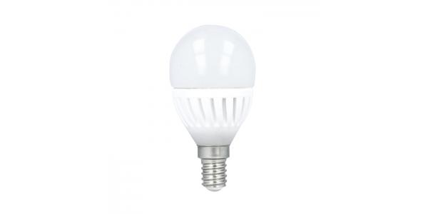 Bombilla LED E14 G45 Esférica 10W. 900 Lm. Blanco Cálido. Ángulo 180º