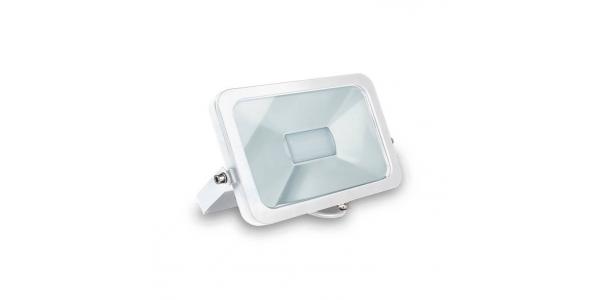 Proyector LED Exterior 30W Flood. Luz Cálida. Blanco