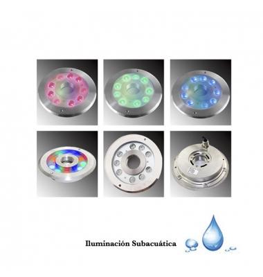 Foco Sumergible RGB Exterior 27W Inmerse. Uso Subacuático