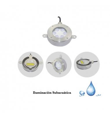 Foco Sumergible LED Exterior Aqua 18W-12V. Uso Subacuático