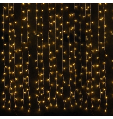 Cortina Luminosa 9W . 3 x 1 metro. Luz cálida. 150 LEDs