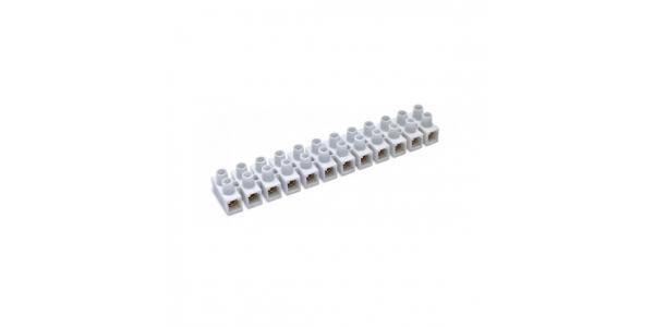 Regleta Conexión 12 elementos. 4mm. Blanca