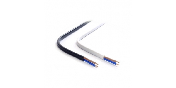 Cable Manguera Plana Blanca. 2 x 1mm. 1 Metro
