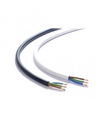 Cable Manguera Plana Negro. 3 x 1mm. 1 Metro